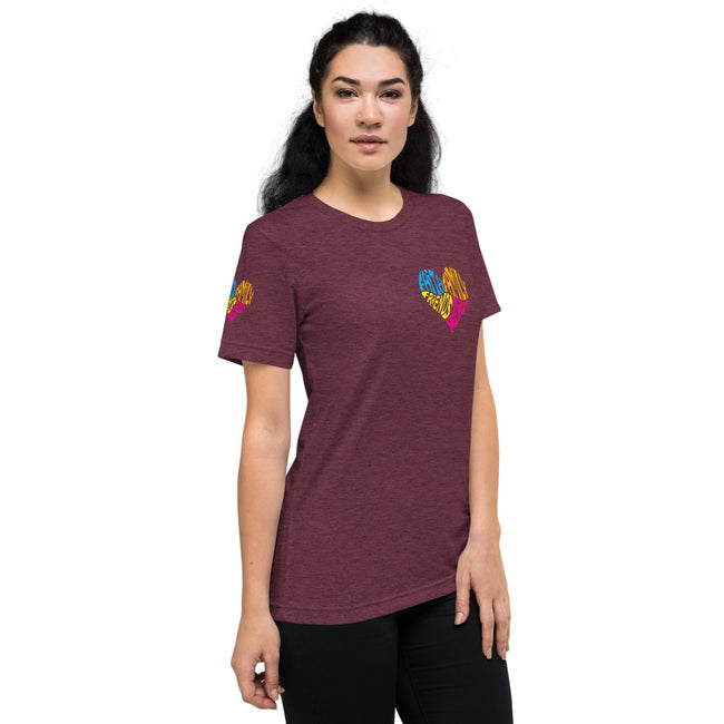 =Mothers Heart Short sleeve t-shirt w/Logo on Heart and Sleeves - MY TEE USA
