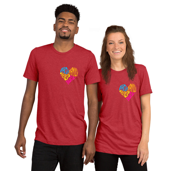 Nurses Heart Unisex Short sleeve t-shirt w/Logo on Heart - MY TEE USA
