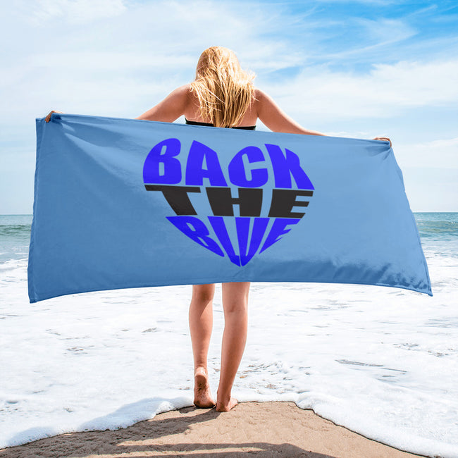 "Back the Blue Heart 30"" X 60"" Towel"