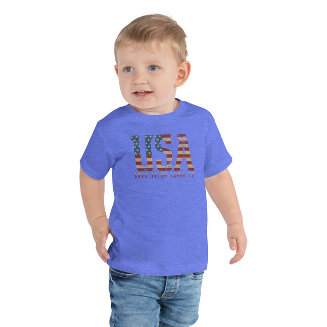 -USA Love It Toddler 2T to 5T Short Sleeve Tee