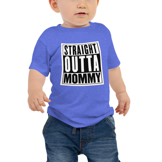 -Straight Outta Mommy 6 to 24M Baby Jersey Short Sleeve Tee - MY TEE USA