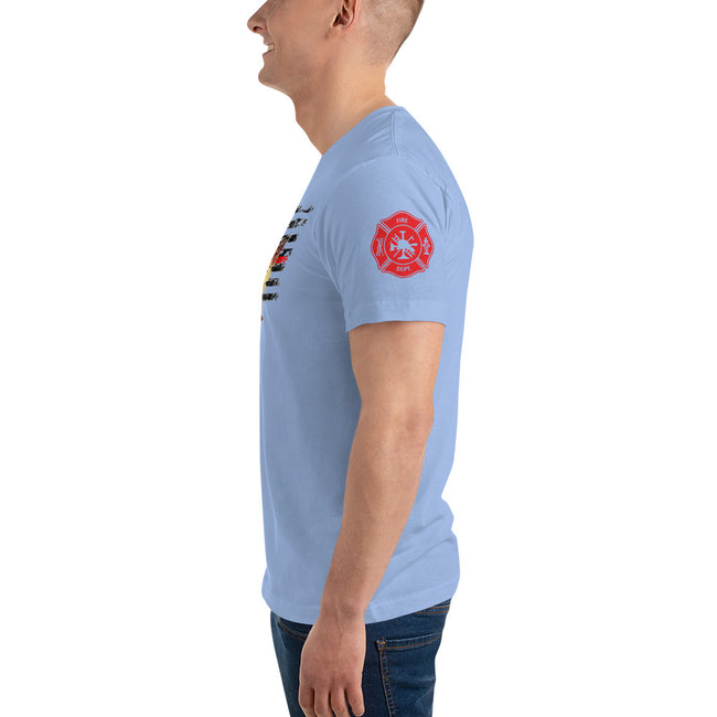FF on FF Flag Unisex T-Shirt w/Logo on Chest and FF Logo on Sleeves - MY TEE USA