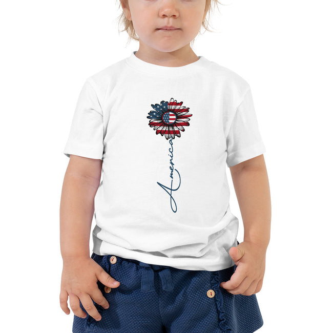 -American Flower 2 to 5T Toddler Short Sleeve Tee - MY TEE USA