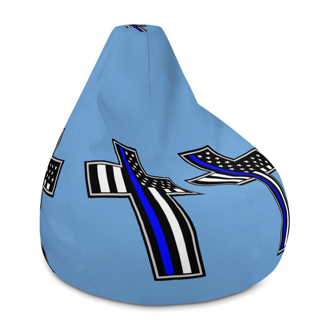 -Police Flag in Cross Bean Bag Chair Cover