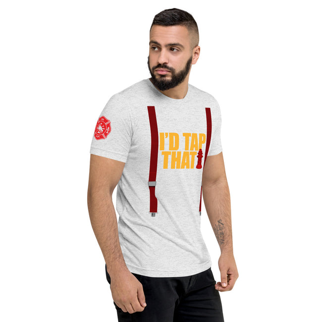 Id Tap That w/Suspenders Unisex Short sleeve t-shirt w/Logo on Chest and FF Logo on Sleeves - MY TEE USA