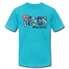 Teach #herolife Unisex Jersey T-Shirt by Bella + Canvas w/Logo on Chest and Back - MY TEE USA