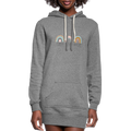 Teach Love Repeat Women's Hoodie Dress w/Logo on Chest and Back - MY TEE USA