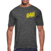 Galaxy Dad Men's Moisture Wicking Performance T-Shirt w/Logo on Heart and Back - MY TEE USA