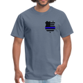 Police Flag Badge Unisex Classic T-Shirt w/Logo on Heart and on Back - MY TEE USA