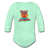-Cutest Pumpkin Organic Long Sleeve NB to 18M Baby Bodysuit w/Logo on Chest - MY TEE USA