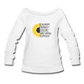 Plant Seeds Women's Wideneck Sweatshirt w/Logo on Chest and Back - MY TEE USA