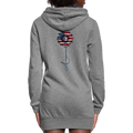=American Flower Women's Hoodie Dress w/Logo on Chest and Back - MY TEE USA
