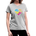 =Mothers Heart Women's V-Neck T-Shirt w/Logo on Chest - MY TEE USA