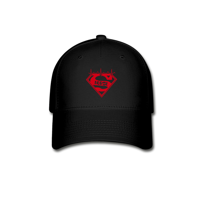 Super Nurse Baseball Cap w/Logo on Front and Back - MY TEE USA