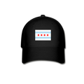 Chicago Flag Flex Fit Baseball Cap w/Logo on Front and Back - MY TEE USA