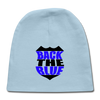 -Back the Blue Badge Newborn Baby Cap - MY TEE USA