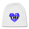 -Back the Blue Heart Newborn Baby Cap - MY TEE USA