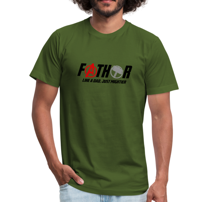 FaTHOR Unisex Jersey T-Shirt by Bella + Canvas w/Logo on Chest and Back - MY TEE USA