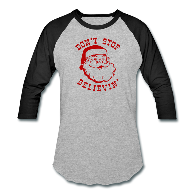 Dont Stop Believin Baseball T-Shirt w/Logo on Chest and Back - MY TEE USA