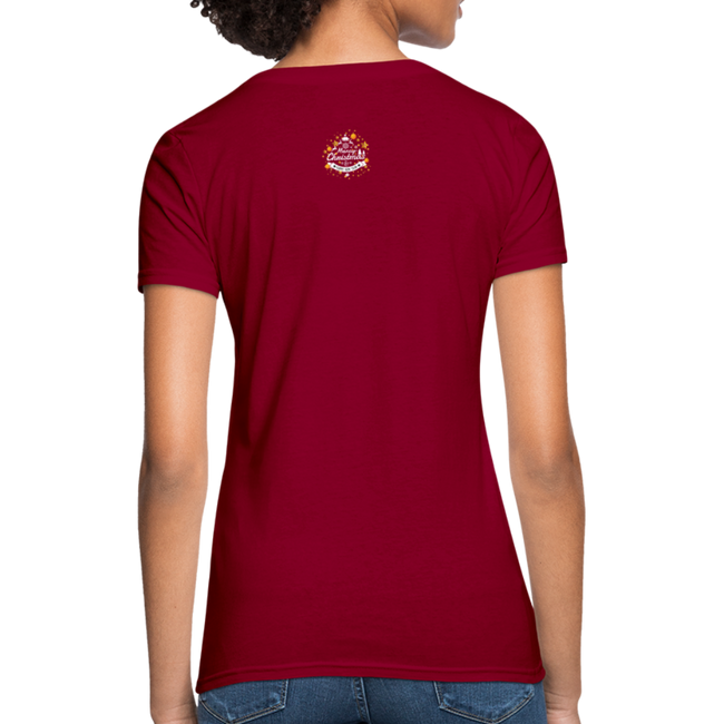 Merry Christmas n Happy New Year Women's T-Shirt w/Logo on Chest and Back - MY TEE USA