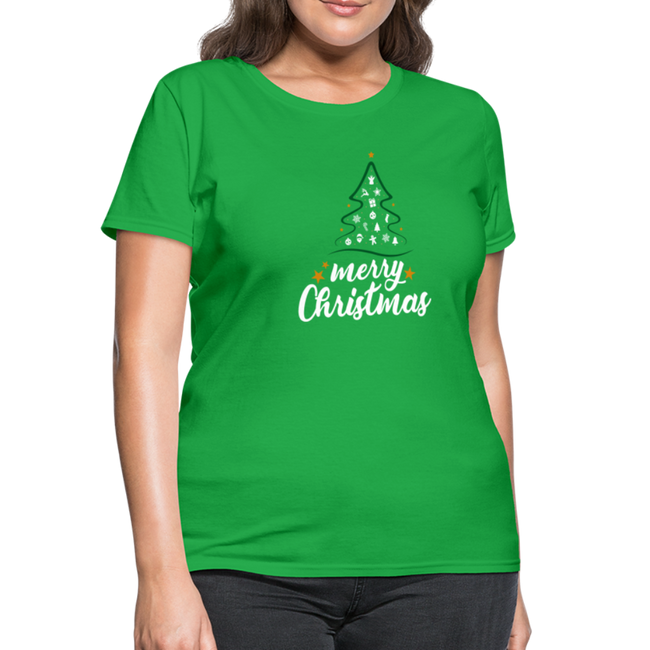 A Merry Christmas Women's T-Shirt w/Logo on Chest and Back - MY TEE USA