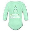 A Merry Christmas Organic A Long Sleeve A Baby Bodysuit - MY TEE USA