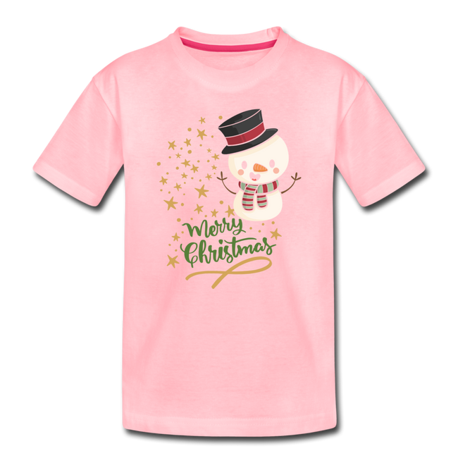 Snowman Merry Christmas Premium T-Shirt 2 to 4T - MY TEE USA