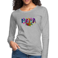 =MAMA Women's Premium Long Sleeve T-Shirt w/Logo on Chest and Back - MY TEE USA