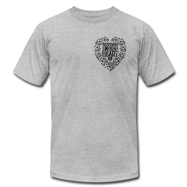 Work of Heart Unisex Jersey T-Shirt by Bella + Canvas w/Logo on Heart - MY TEE USA