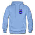 Back the Blue Badge Gildan Heavy Blend Unisex Hoodie w/Logo on Heart and Back Label - MY TEE USA