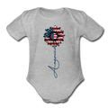 -American Flower NB to 18M Organic Short Sleeve Baby Bodysuit - MY TEE USA