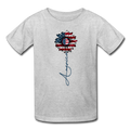 -American Flower Youth T-Shirt - MY TEE USA