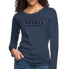 Ill Be There For You Nurses Women's Premium Long Sleeve T-Shirt - navy
