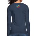 Women's Premium Long Sleeve T-Shirt - navy