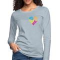 Women's Premium Long Sleeve T-Shirt - heather ice blue