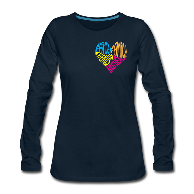 Women's Premium Long Sleeve T-Shirt - deep navy