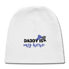 Daddy Is My Hero Baby Cap - white