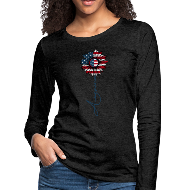 Women's Premium Long Sleeve T-Shirt - charcoal gray