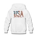 USA Love It Kids' Hoodie - white
