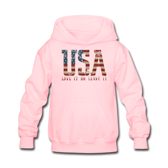 USA Love It Kids' Hoodie - pink