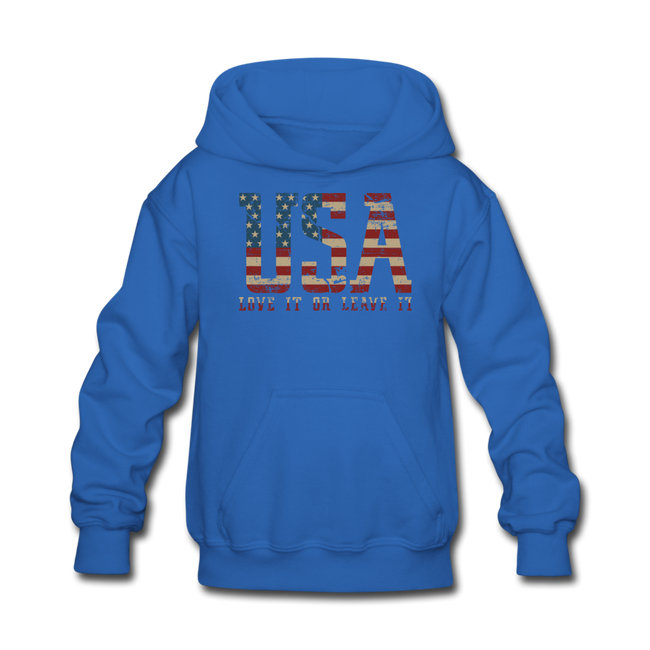 USA Love It Kids' Hoodie - royal blue