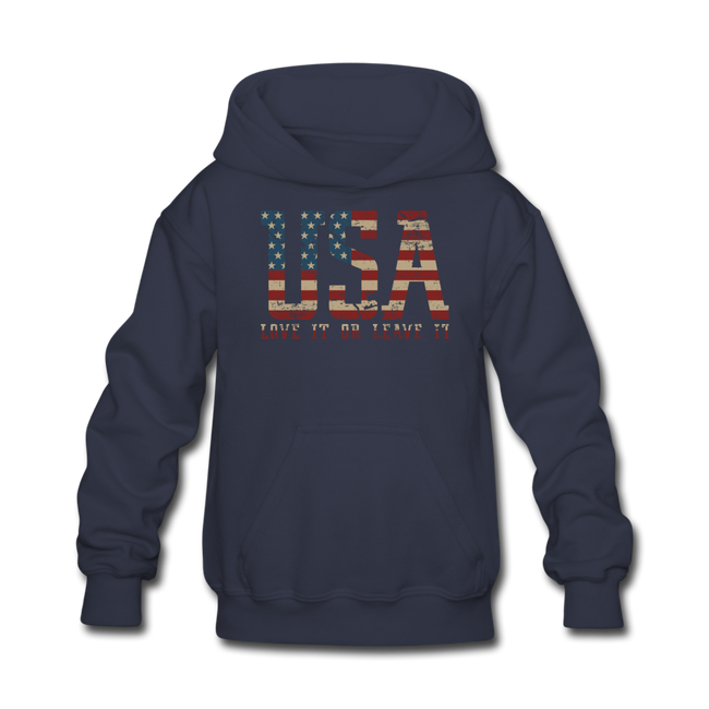 USA Love It Kids' Hoodie - navy