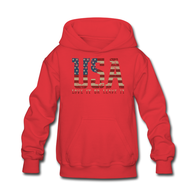 USA Love It Kids' Hoodie - red