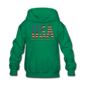 USA Love It Kids' Hoodie - kelly green