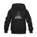 Merry Christmas Kids' Hoodie - black