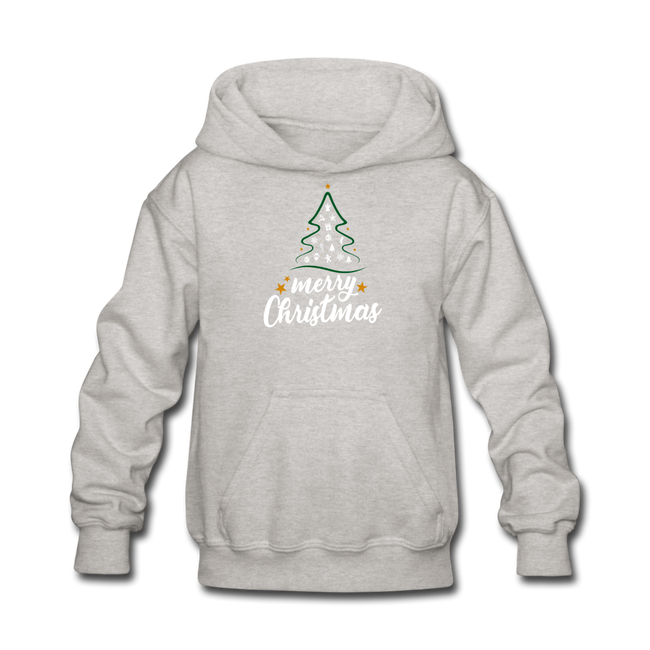 Merry Christmas Kids' Hoodie - heather gray