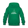 Merry Christmas Kids' Hoodie - kelly green