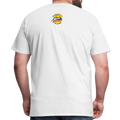 The Man Men's Premium T-Shirt w/Logo on Chest and Back Label - white