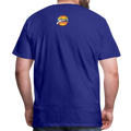 The Man Men's Premium T-Shirt w/Logo on Chest and Back Label - royal blue