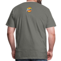 The Man Men's Premium T-Shirt w/Logo on Chest and Back Label - asphalt gray